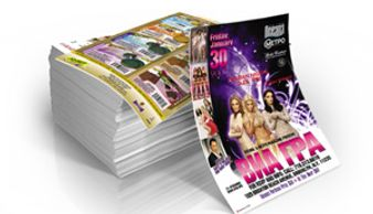 Flyers digital offset printing in Calgary