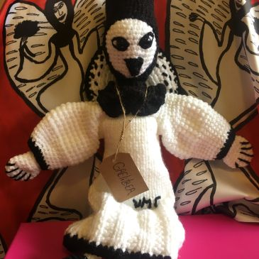 Hand knitted Gaelitrea angel doll