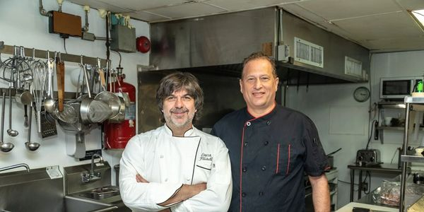 Chef Luca Filadi and Sous Chef John O'Dea, the heart of LUNA