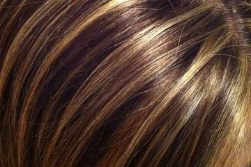 Highlights and Skincare by Donna Lynn  close up of hair highlights