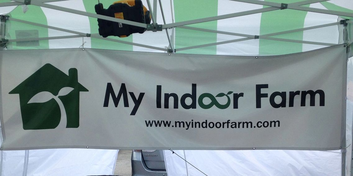 Our sign at the Tomball Farmer's Market