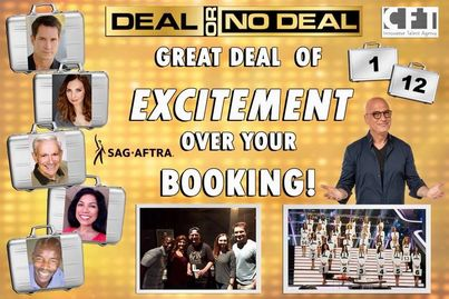 Deal or No Deal with Howie Mandel SAG shoot Orlando Florida.