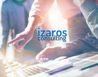 Izaros Marketing Consultants huddled over a computer
