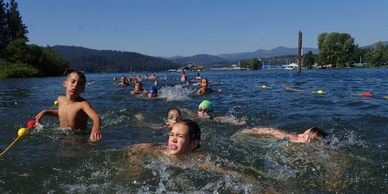 A link to all swim information for the kids race: course map, start times, race rules, water safety.