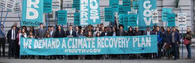 Join us for the rally at the federal courthouse in SD and support these young climate warriors .