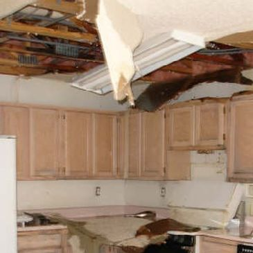 kitchen water damage