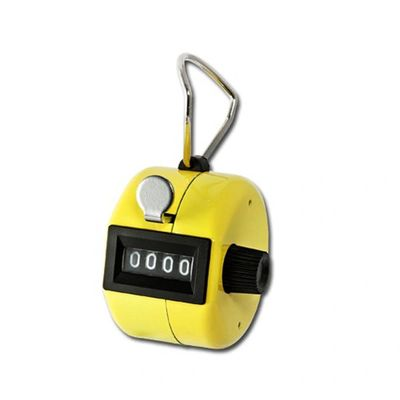 Yellow Metal Hand Tally Counter - Use as Footfall Counter
