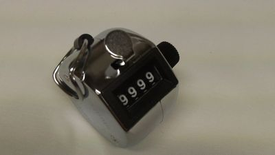 Tally Counter, Chrome Metal Clicker, counts 0-9999 with reset knob, Upgreen quality product