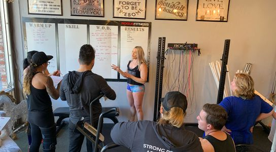 Serena coaches athletes at Stellar CrossFit, Big Bear Lake, CA