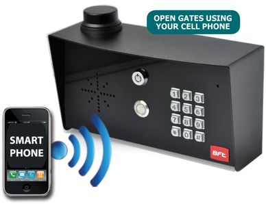 GFT wireless keypad with intercom. 4g wireless keypad with phone app. gate motors unlimited miami