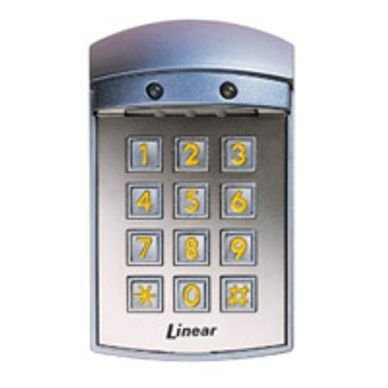 Linear exterior keypad for gate opener motors access control systems. miami gate motor repair