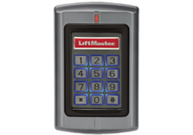 wired liftmaster keypad and proximity reader for residential and commercial properties. gate opener.