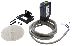 NIR retro-reflective photo-eye sensor provides protection for commercial gates and parking barriers.