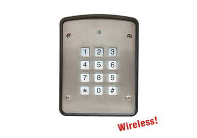 wireless keypad compatible with multi code receivers. this wireless keypad is available gate motors