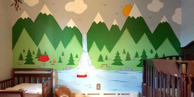SABRINAS MURALS BABY ROOM MOUNTAINS AND NATURE