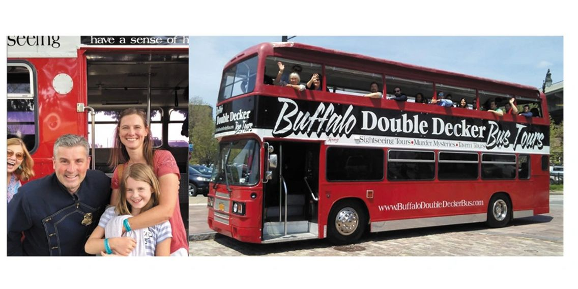 Buffalo tours. Sightseeing tours Buffalo. Buffalo double decker bus.  Buffalo double decker tours.
