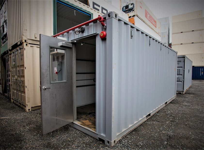 storage container, shipping container, rental container, modified container