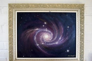 "Home Galaxy Oil on board 12"" x16"" framed, Price 650.00"