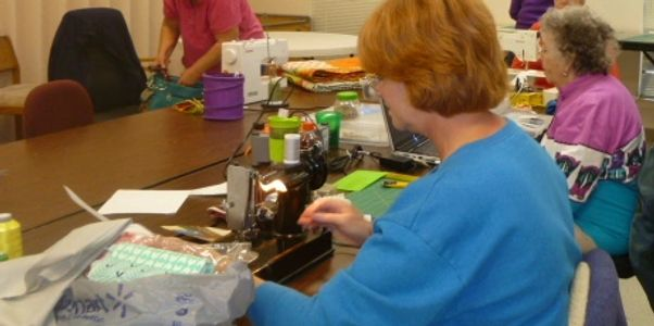 Silver Sage in Bandera activities, our quilting room and ladies.