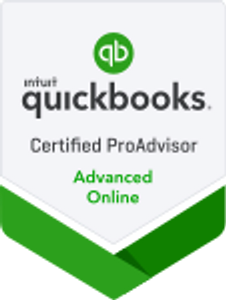 QuickBooks Certified ProAdvisor Advanced badge.