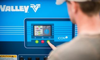 Valley Icon5 panel, water management, irrigation controls, touch screen