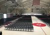 High School Graduation Ceremony set up with Folding Black Chairs