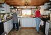 Owners Pat and Bob cook group meals in Barn ktichen.
