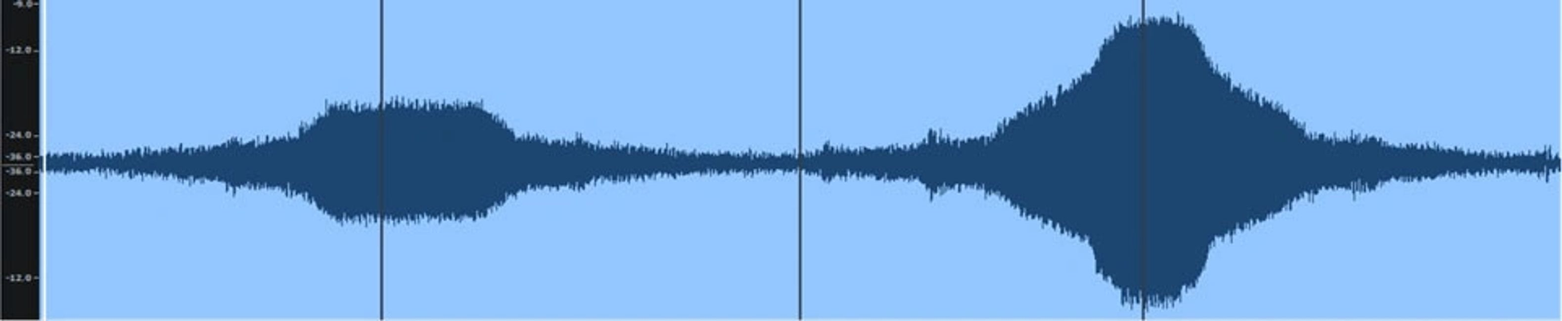 The difference in sound level between two slightly different driver designs.