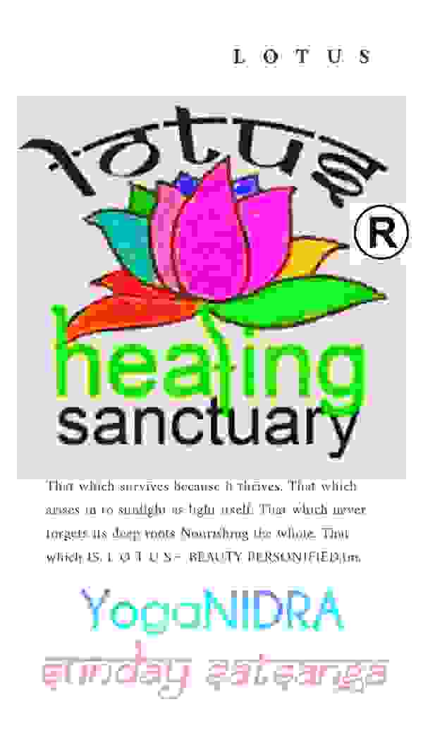 Sunday Satsanga Yoga Nidra at Lotus Healing Sanctuary  1st Sundays.  #Sanctuary #Sunday #Lotus