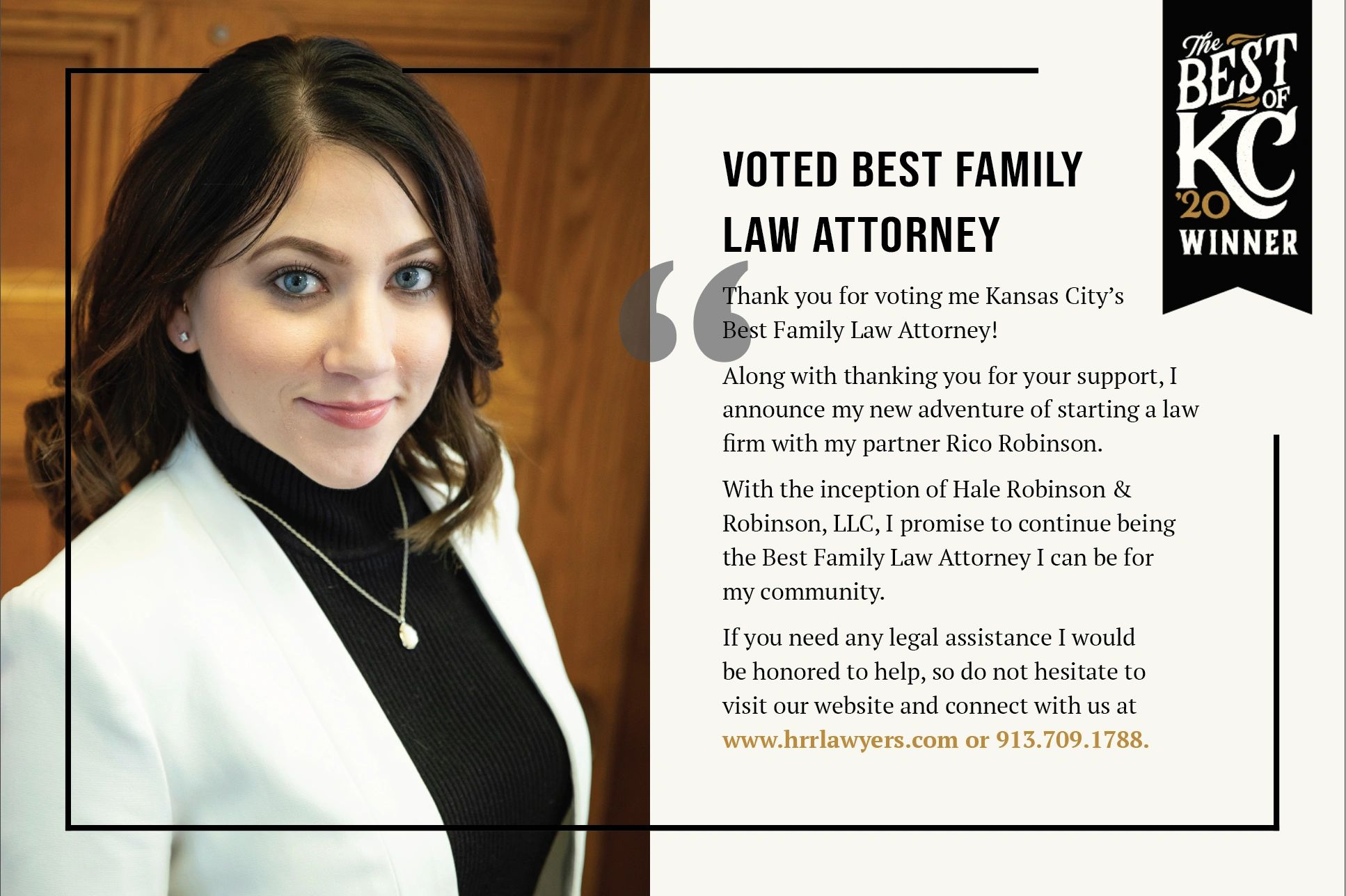 Suzanne Voted Best Family Law Attorney 2020 Kansas City's Best Family Law Lawyer