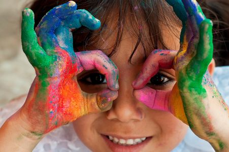Participating in art-based activities helps children develop language, mathematics , science .