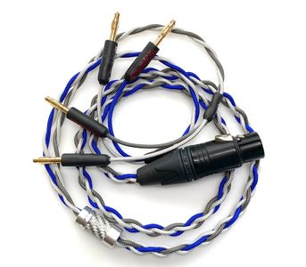 Custom made headphone adapter cables. These cables can be made with OCC Type 6 Copper Litz or OCC Silver Plated Copper Litz wire.