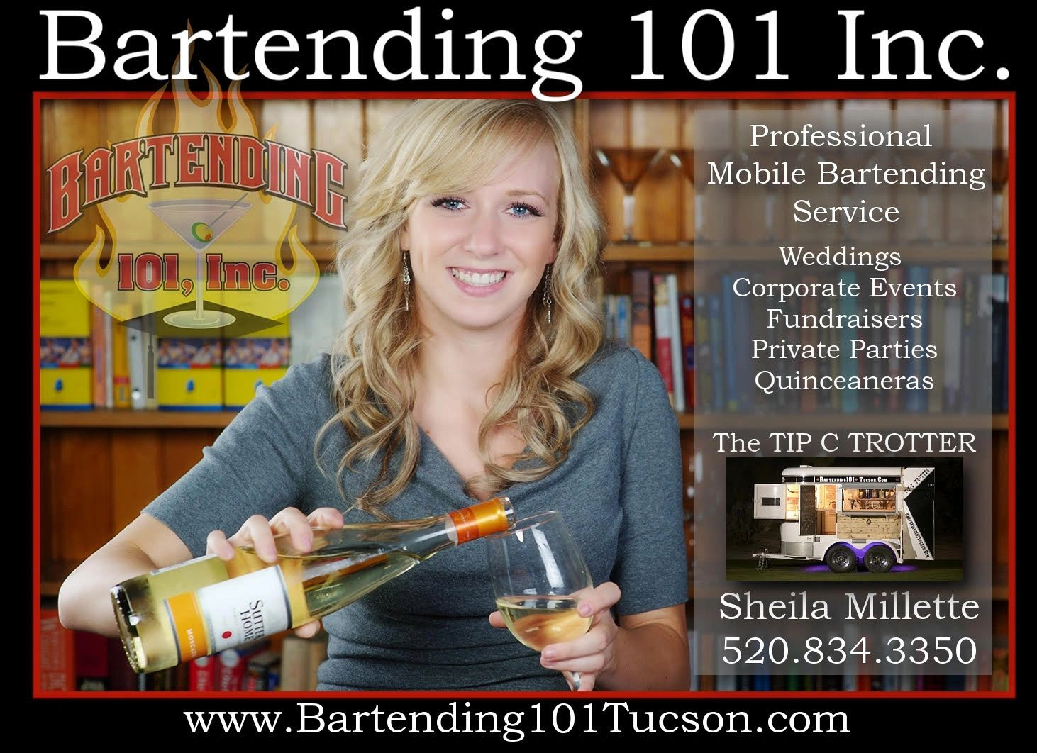 Bartending service and mobile bartending service in Tucson, Az.