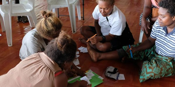 Local Barana women engaged in the baseline assessment, Solomon Islands p.c. Samantha Keis-Ryan