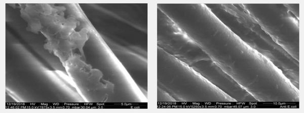 Atomic microscope photo nano coating effect