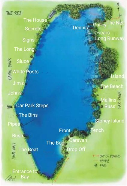 Map   Tardebigge Anglers