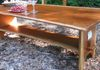 Bookmatched Live Edge Black Cherry Coffee Table - lower shelf with pegged tenons... $1,125...SOLD