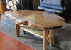 Live Edge Red Elm Coffee Table with Walnut butterfies and red cedar legs.....  $500.....  SOLD