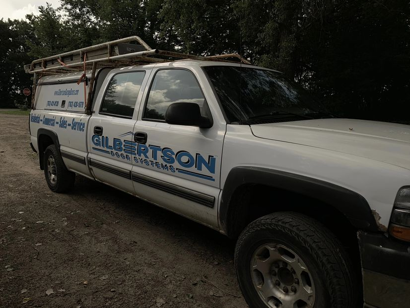 Gilbertson Door Systems service truck