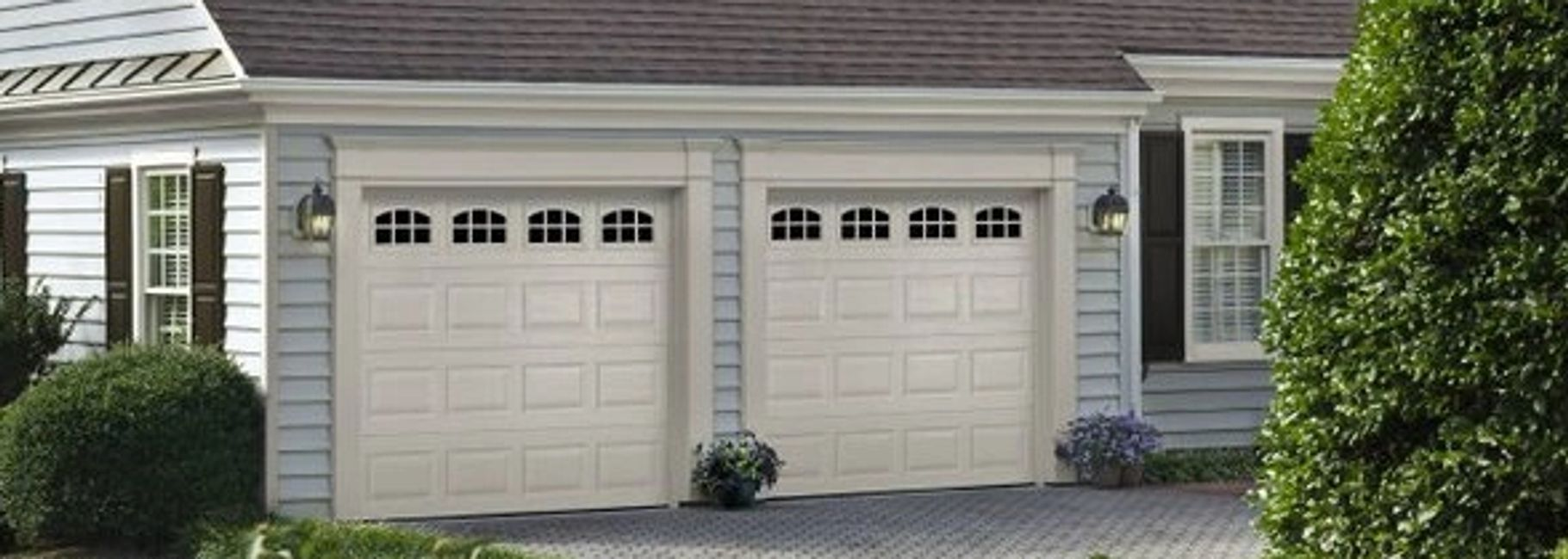 short panel single garage doors with windows