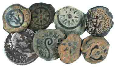 Widows mites, Herodian and Procurator coins.