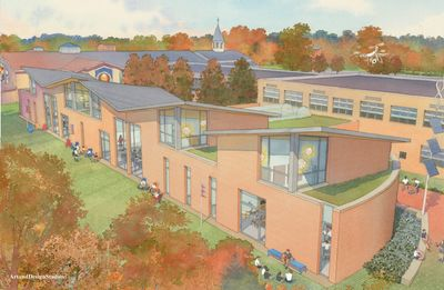 Design of new addition, Our Lady of Mercy School.