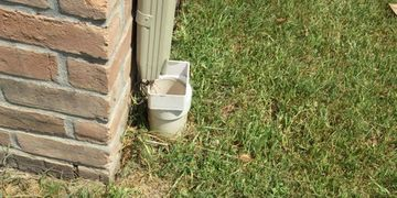 Houston inspection fee Subsurface drain not connected to gutter downspout at inspection in Sugarland