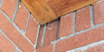 Soldier bricks at top of wall loose at home inspection Houston best inspector Houston cost fee quote