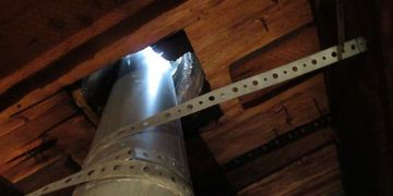 Houston best home inspector Rain collar not sealed furnace flue pipe best inspection company quote