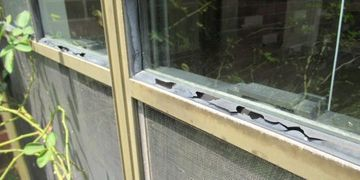 Window weather stripping damaged incomplete inspection Houston best home inspector near me  final