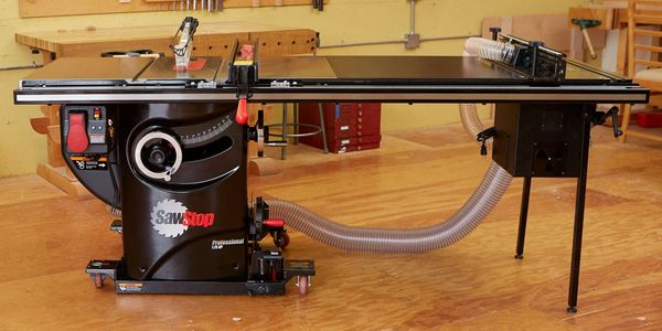 SawStop Pro Cabinet Table Saw with Router Table and Mobile Base.