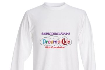 White Long Sleeve Dreamsickle Shirt $30