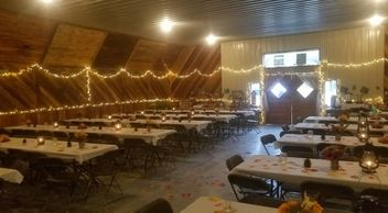 A wedding held in the Event Barn