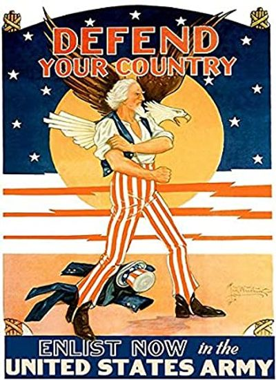 WWII propaganda poster Defend your Country